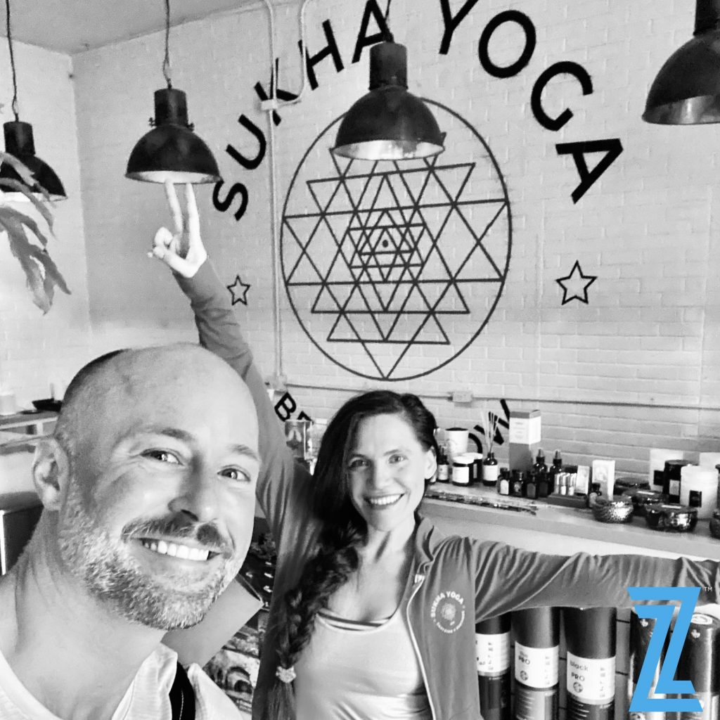 Dr. Piazza and Erinn Leigh of Sukha Yoga