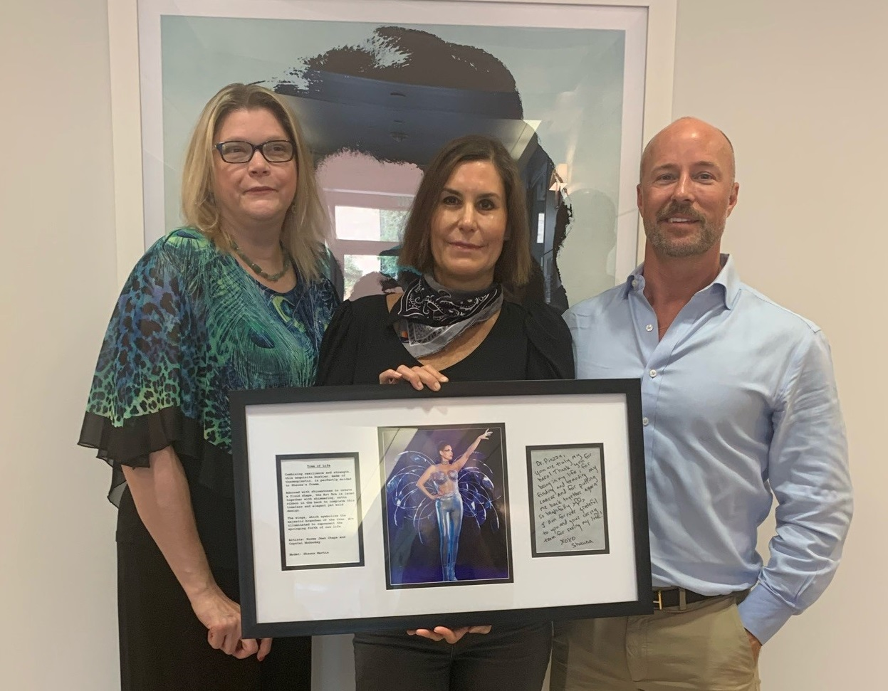 Art Bra 2021 Dr. Piazza receiving plaque for support